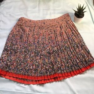 American eagle outfitters floral pleated skirt